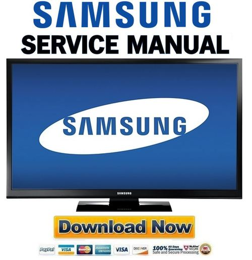 Samsung Pn51e450 Pn51e450a1f Service Manual And Repair