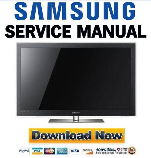 Samsung Pn58c7000 Pn58c7000yf Pn58c7000yfxza Service Manual And Repair Guide