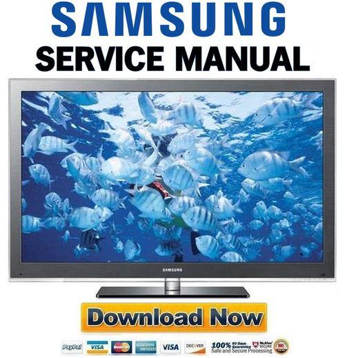 Pay for Samsung PN58C8000 PN58C8000YF PN58C8000YFXZA Service Manual and Repair Guide