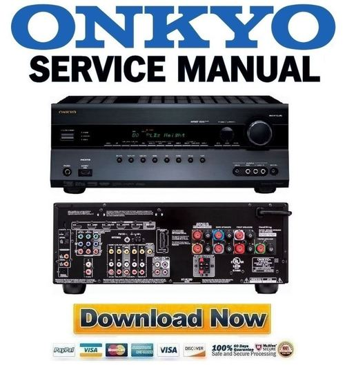 Pay for Onkyo HT-RC260 Service Manual and Repair Guide