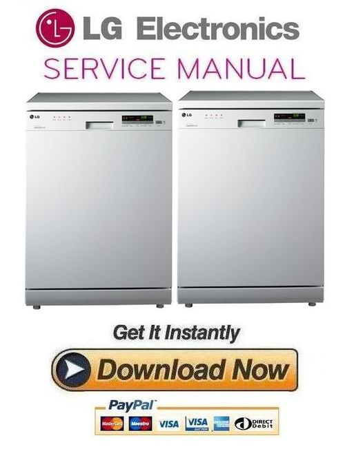 Pay for LG LD 1482W4 Dishwasher Service Manual and Repair Guide