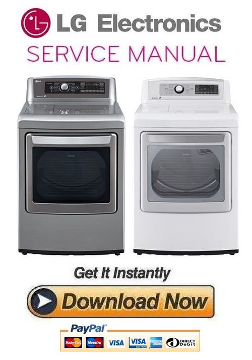Pay for LG DLEX5680V DLEX5680W Service Manual and Repair Guide