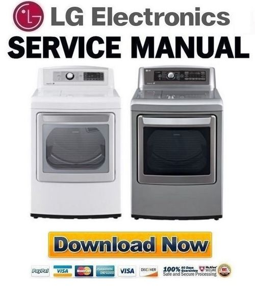 Pay for LG DLGX5681V DLGX5681W Service Manual and Repair Guide