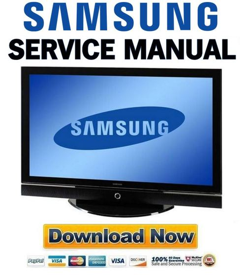 Pay for Samsung PS50P5H PS50P5HX Service Manual and Repair Guide
