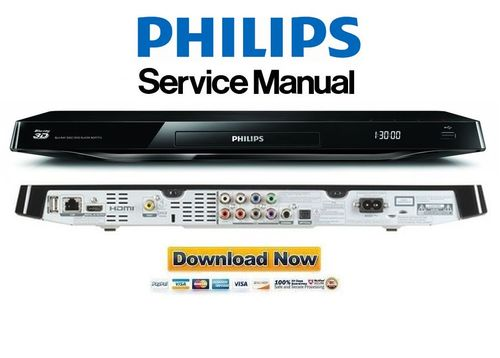 Pay for Philips BDP7750 Blu Ray Player Service Manual