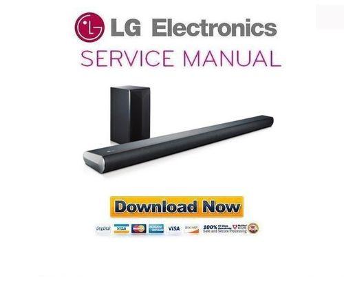 lg lasc55 wireless sound bar service manual and repair guide down rh tradebit com electronic service manuals free download electronics service manual pdf