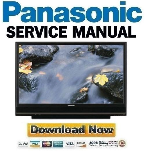 Pay for Panasonic PT-50LCX7K + 56LCX70-K Service Manual & Repair Guide