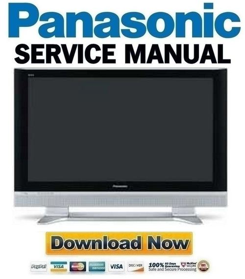 pay for panasonic viera th-37pa50 + 42pa50 series full service manual &  repair guide