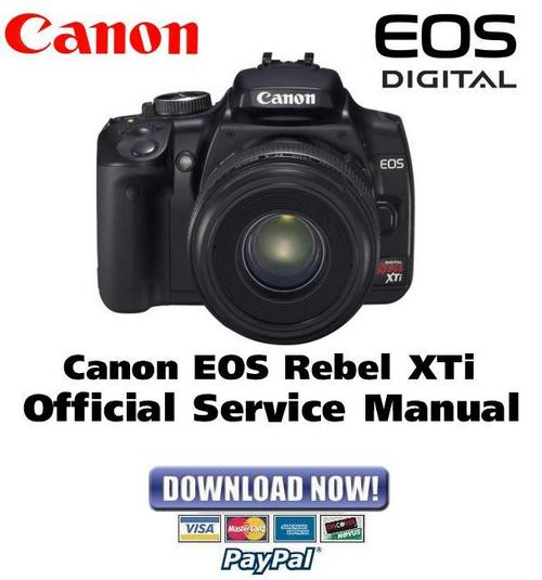 Pay for CANON EOS Digital Rebel XTI Service Manual & Repair Guide