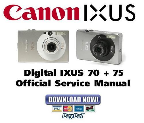 canon digital ixus 70   75 service  u0026 repair manual