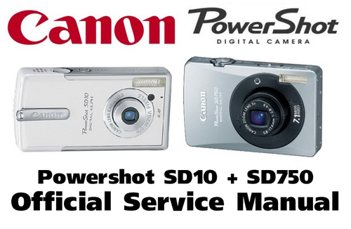canon powershot sd10 sd750 service manual repair guide. Black Bedroom Furniture Sets. Home Design Ideas
