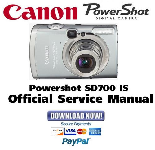 Pay for Canon PowerShot SD700 IS Service Manual & Repair Guide