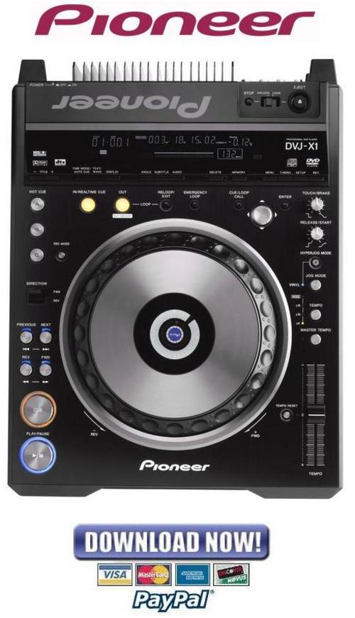 Pay for Pioneer DVJ-X1 Service Manual & Repair Guide