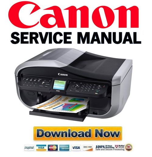 Pay for Canon Pixma MP830 Service & Repair Manual + Parts Catalog