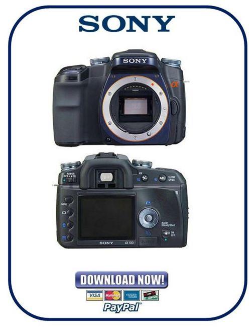 sony alpha dslr a100 service manual level 1 2 3 adjustments man rh tradebit com Sony A100 Specs Sony A100 Specs