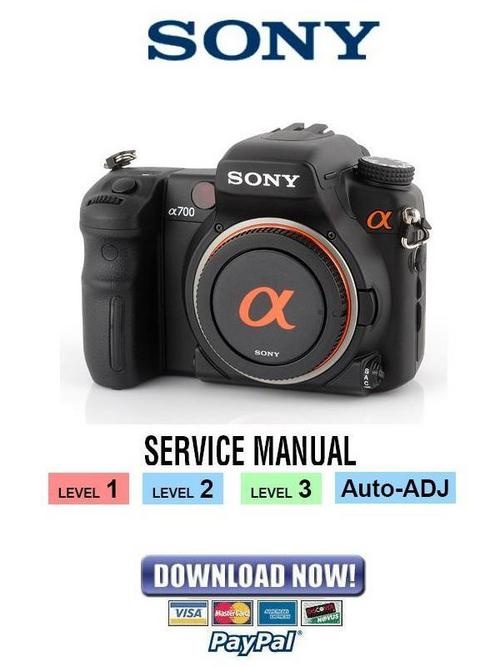 Sony Alpha Dslr-a700 Service Manual Package