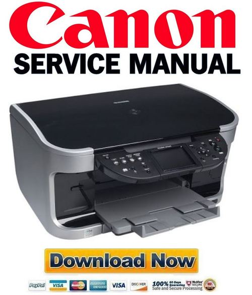 Canon Pixma MP800 Service Manual Repair Guide + Parts List