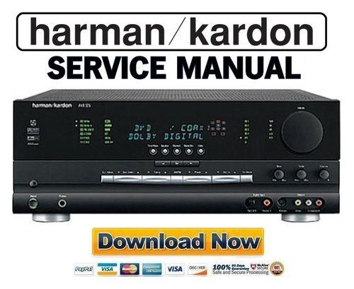 harman kardon avr325 avr 325 service manual repair guide downl rh tradebit com Harman Kardon AVR 1650 Harman Kardon AVR 2700
