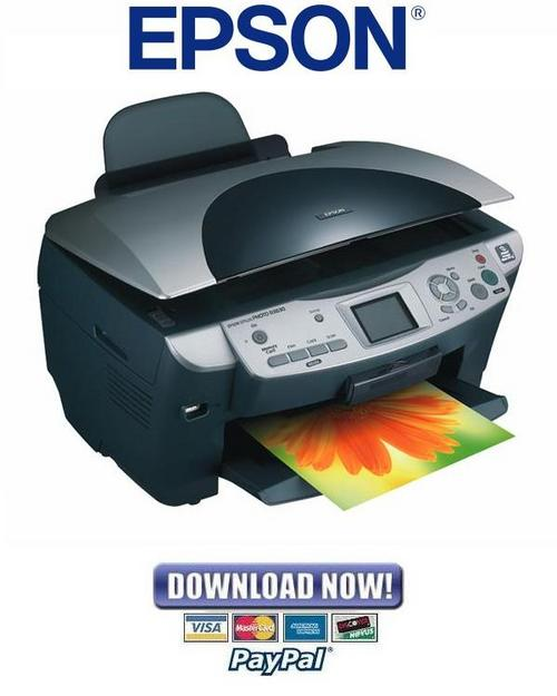 Pay for Epson Stylus Photo RX600 RX610 RX620 RX630 Service Manual + Reset & Adjustment Software