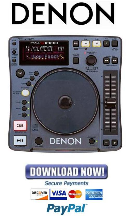 Denon Dn-s1000 Service Manual  U0026 Repair Guide