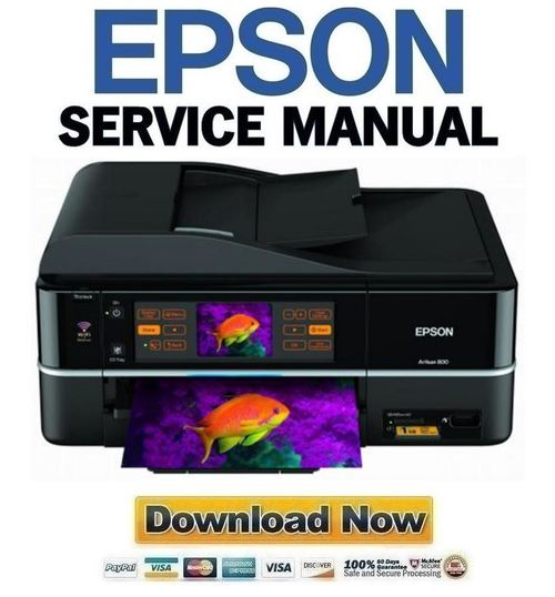 Pay for Epson Artisan 800 Service Manual Repair Guide