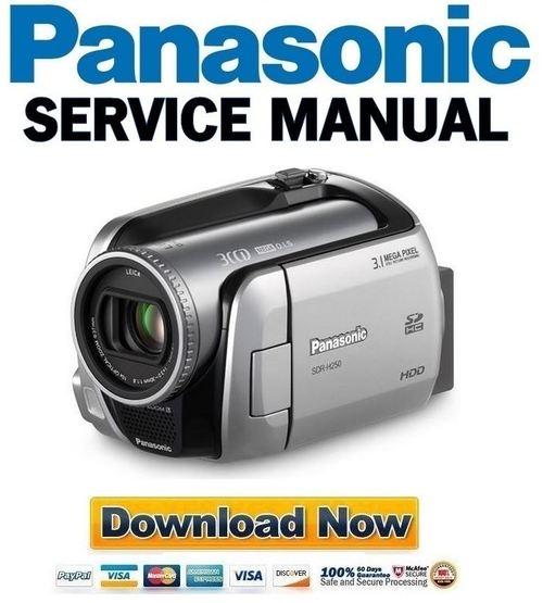 Panasonic SDR-H250 Service Manual & Repair Guide