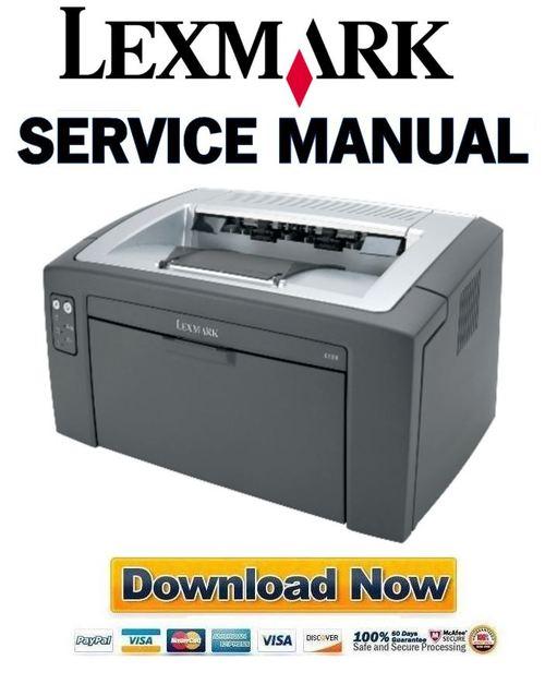 lexmark e120 service manual repair guide download manuals rh tradebit com lexmark e120 user manual lexmark e120 manual online