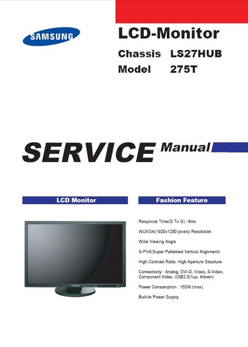 samsung 275t service manual repair guide download manuals rh tradebit com service manual motor for mf 231s service manual manitou 1637