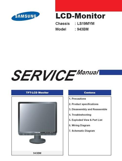 Samsung 943bm Service Manual  U0026 Repair Guide