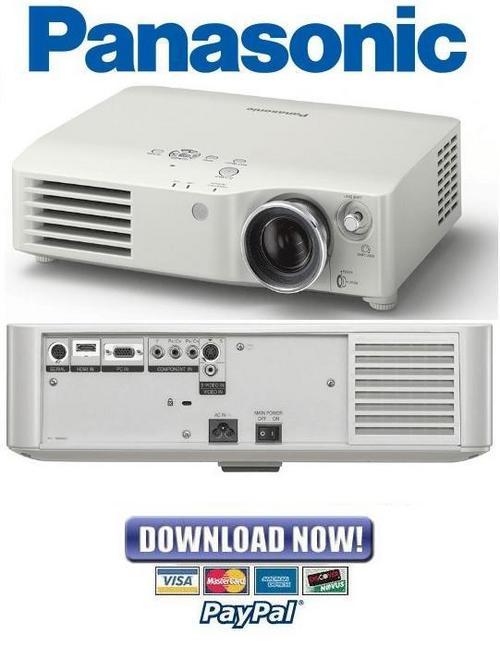 panasonic projector service menu pdf