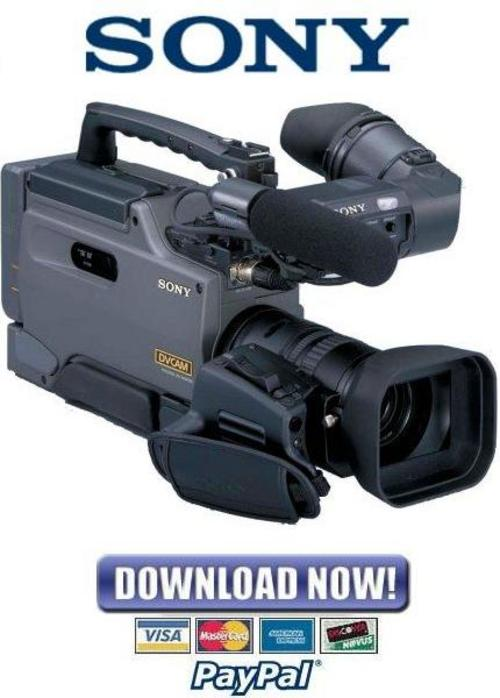 Pay for Sony DSR-250 + 250P Service Manual & Repair Guide