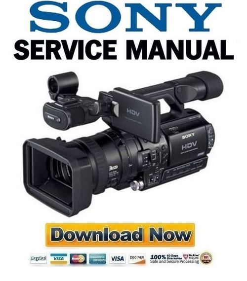 Pay for Sony HVR-Z1 Service Manual & Repair Guide