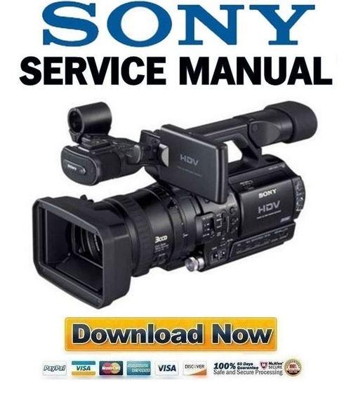sony hvr z1 service manual repair guide download manuals rh tradebit com sony video camera manuals online sony 1500p video camera manual