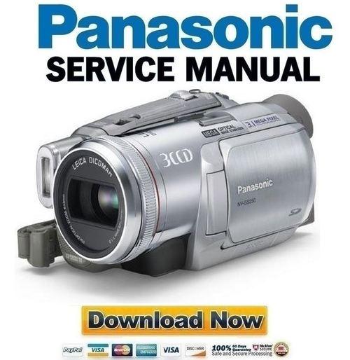 panasonic nv gs250 service manual repair guide download manuals rh tradebit com Service Manuals Parts Manual