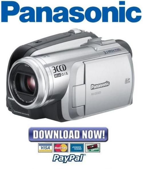 panasonic nv gs320e camcorder service manual