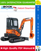 Thumbnail ☆☆ Best ☆☆ Hitachi ZAXIS27U-2, ZAXIS30U-2, ZAXIS35U-2 Excavator Technical Manual + Circuit Diagram