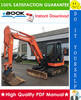 Thumbnail ☆☆ Best ☆☆ Hitachi ZX60USB-3, ZX60USB-3F Hydraulic Excavator Technical Manual + Circuit Diagram