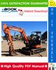 Thumbnail ☆☆ Best ☆☆ Hitachi ZX40U-3 Class, ZX40U-3, ZX40U-3F, ZX50U-3 Class, ZX50U-3, ZX50U-3F Hydraulic Excavator Technical Manual + Circuit Diagram