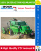 Thumbnail ☆☆ Best ☆☆ John Deere W330 Combine Harvesters Technical Manual
