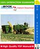 Thumbnail ☆☆ Best ☆☆ John Deere 400, 425 Hay Cubers Technical Manual