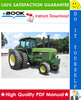 Thumbnail ☆☆ Best ☆☆ John Deere 4430 & 4630 Tractors Technical Manual