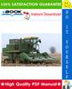 Thumbnail ☆ High-Quality ☆ John Deere 4400, 4420 Combines Technical Manual