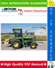 Thumbnail ☆☆ Best ☆☆ John Deere 5720, 5820 Self-Propelled Forage Harvesters Technical Manual