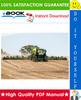 Thumbnail ☆☆ Best ☆☆ John Deere 655, 665 Central Metering Seeder 770, 775, 780, 785 Air Drill Technical Manual