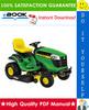 Thumbnail ☆☆ Best ☆☆ John Deere 130, 160, 165, 175, 180, 185 Lawn Tractors Technical Manual