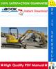 Thumbnail ☆☆ Best ☆☆ John Deere 30, 50 Excavators Technical Manual