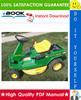 Thumbnail ☆☆ Best ☆☆ John Deere RX, SX Series Riding Mowers Technical Manual