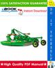 Thumbnail ☆☆ Best ☆☆ John Deere 3, 6, 8, 9 Series Rotary Cutters Technical Manual