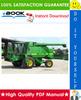 Thumbnail ☆☆ Best ☆☆ John Deere 9400, 9500, SideHill 9500 & 9600 MAXIMIZER Combines Diagnostics and Repair Technical Manual