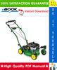 Thumbnail ☆☆ Best ☆☆ John Deere 12PB/12PC/12SB, 14PB/14PT/14PZ, 14SB/14SC/14SX, 14SE/14ST/14SZ Walk-Behind Mowers Technical Manual